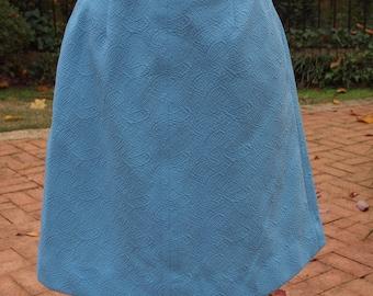 Vintage 70's Haymaker Sky Blue Culottes Textured Polyester Skirt size Medium