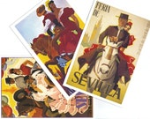 18 Different SEVILLA postcards - SEVILLANA assorted postcards from Spain