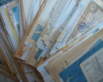 SALE - 30 special sheets of vintage spanish ephemera - Big antique paper pack from Spain