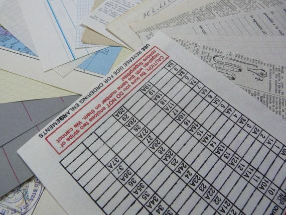 SALE 10 mixed A5 vintage Paper SCRAP Pack
