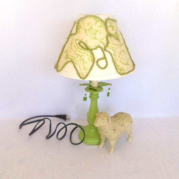 GREEN Repurposed TABLE LAMP