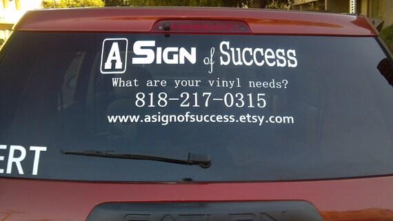 Car decal / Window decal / Back window decal / Car back window decal / business decal / vinyl decal