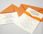 Make a Statement Monogram Wedding Invitation Set