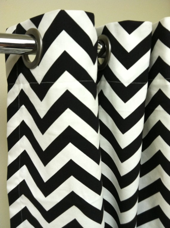 Standard Tub Shower Curtain - Premier Decorator Zig Zag Chevron  - Pick your color