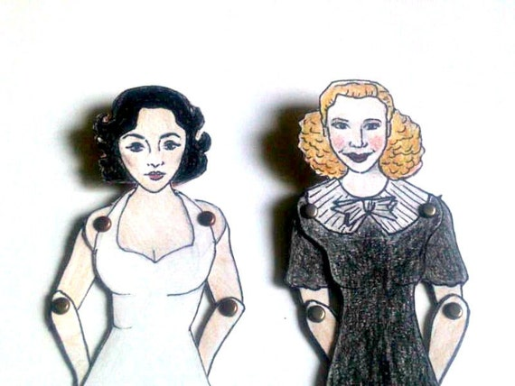 Elizabeth Taylor Articulated Paper Doll - Hollywood Leading Lady