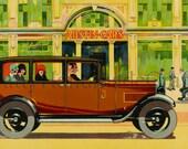 1930s Austin Cars Vintage Advertising Print