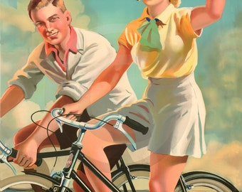 Royal Enfield Bicycle, For Lasting Fitness, 1930s Advertising Print