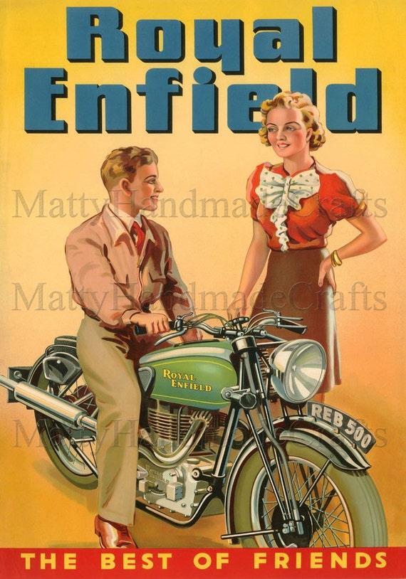 Royal Enfield, Bullet 500, Advertising 1930s Print