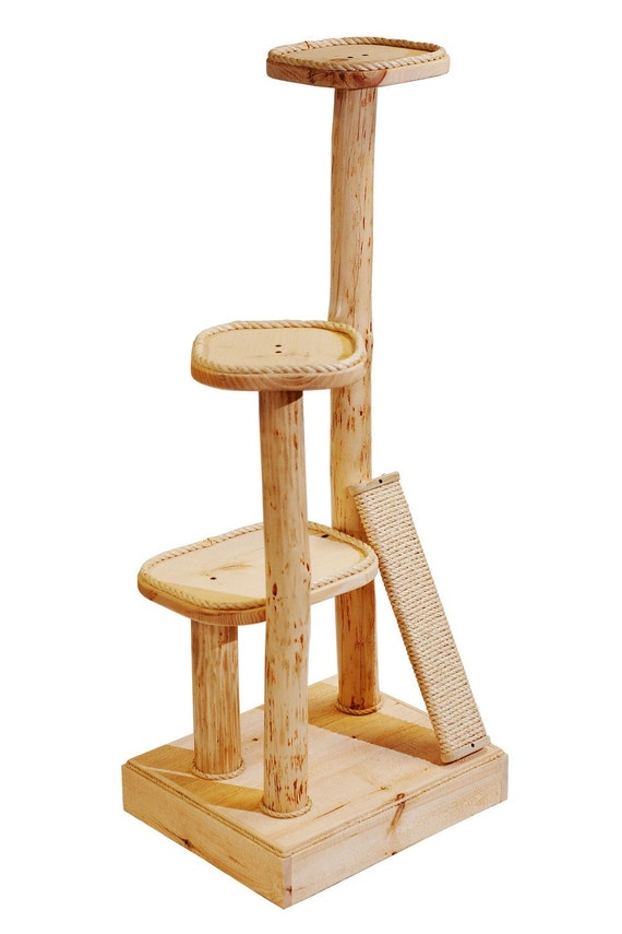 """RESERVED for Erica Custom 58"""" Three Level Natural Cat Tree, Free Shipping"""