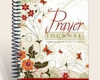Journal Notebook / Prayer Journal Personalized - ModernButterflies Serenity Prayer/