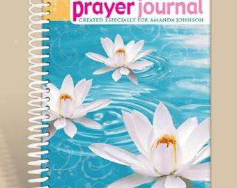 Prayer Journal Personalized - WaterLilly/