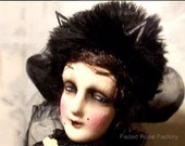 Art Doll Masquerade Boudoir Doll Cat Costume OOAK