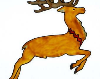 Santa's reindeer with red collar