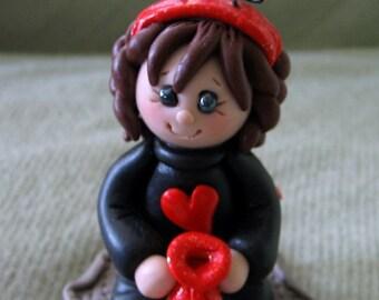 Polymer Clay Halloween Ladybug