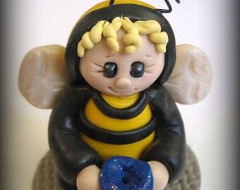Polymer Clay Halloween Bumble Bee