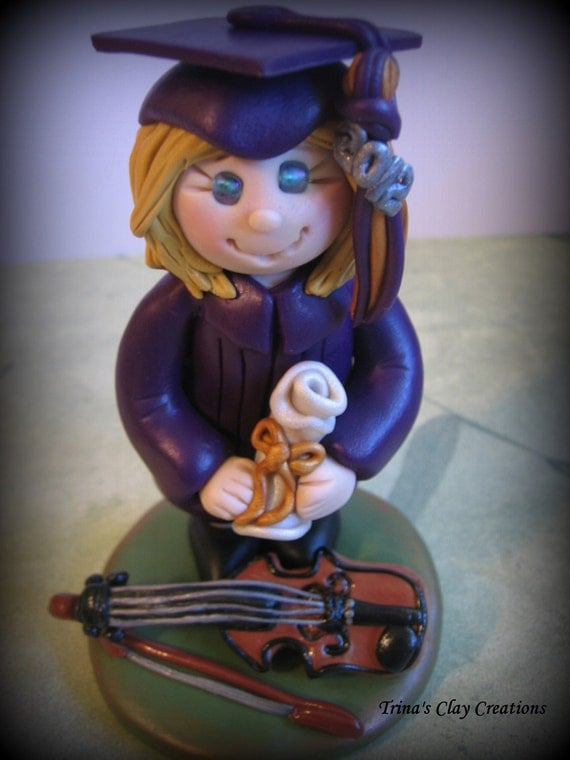 Polymer Clay Graduate with Violin