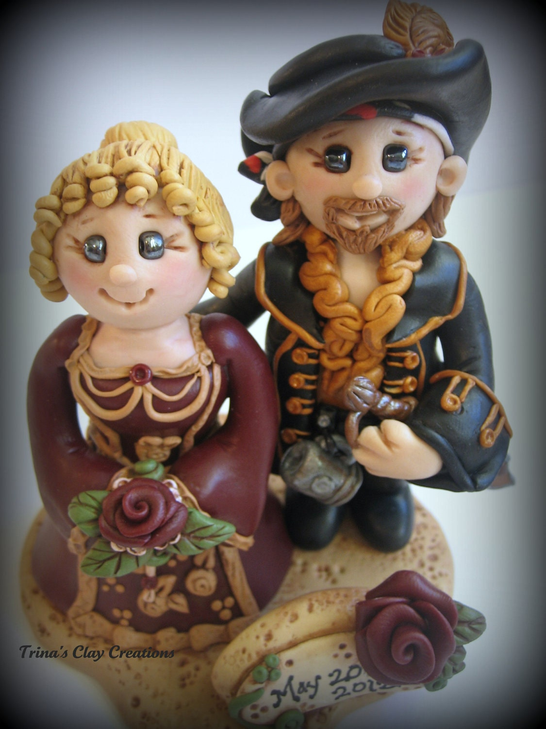 pirate ship wedding cake topper wedding cake topper custom pirate and renaissance polymer 18617