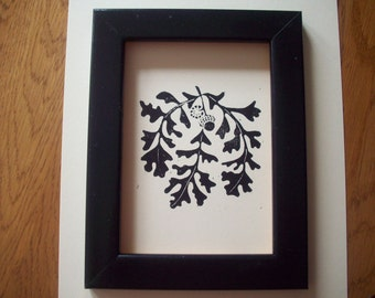 Print--Oak Leaves & Acorns