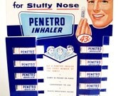 Vintage Penetro Inhaler Full Counter Display