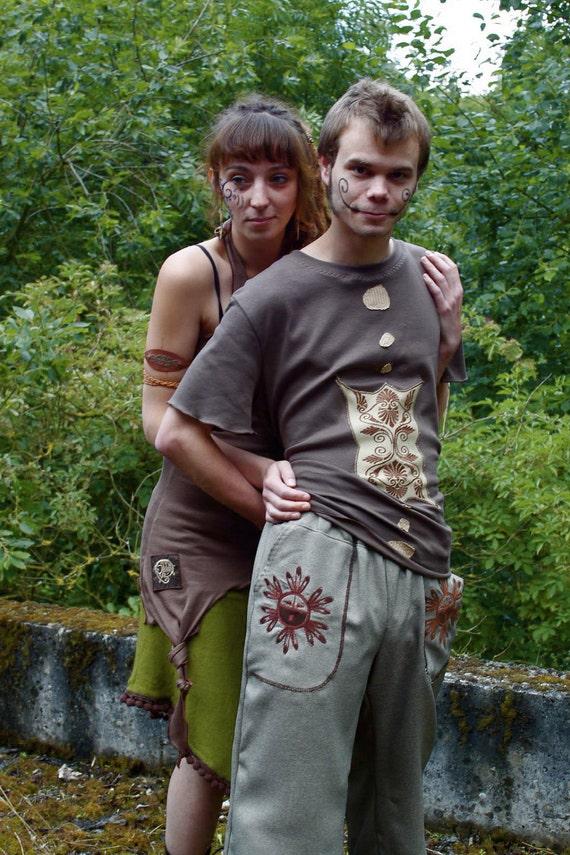 men sun maya tribal  pants