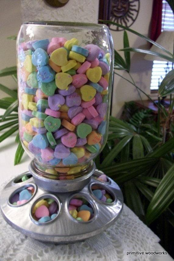 Chick Feeder, Rustic Country Candy Dish, Retro Mason Jar - Seasonal Candy Dish