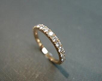 0.54ct Diamond Wedding Band in 14K Rose Gold, Diamond Ring, Diamond Wedding Ring, Rings, Unique Rings, Women Rings, Custom Design Ring, Gift