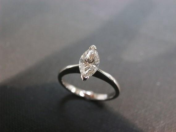 Engagement Diamond Ring with 0.70ct Marquise Shape Diamond