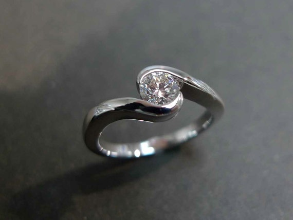 0.40ct Diamond Solitaire Engagement Ring in 14K White Gold