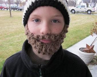 PreTeen ULTIMATE Bearded Beanie Black Mix