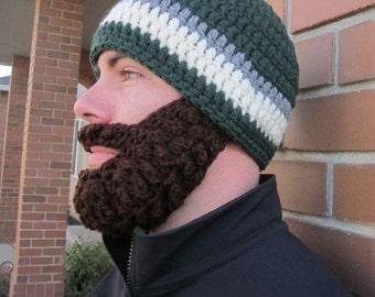 Adult ULTIMATE Bearded Beanie Dark Sage Mix