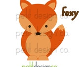 Foxy Applique Template - immediate download