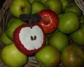 Autumn Harvest Half Apple Pin Cushion or Decorative Fruit