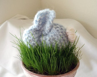 Knit Bunny in Blue Easter bunny