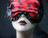 Sleep mask Satin --SALE - Les Chats - Cats Cats by Love Me Sugar Paris on Etsy