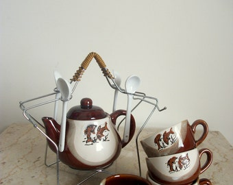 Vintage Two Toned Ceramic Coffee/Tea Service Gift