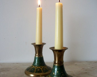 Art Deco Brass/ Morocan Style Candle Holder