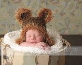 Brown Bear Newborn Crochet Hats, Baby Boy Hats, Baby Bear Hat, Baby Bear Crochet Hat, Baby Bear Knit Hat, Newborn Bear Hat