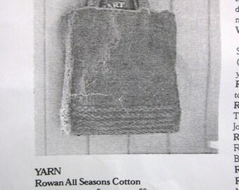 Rowan Yarn Hand Knit All Seasons Cotton - Basic Tote Bag Kit knit pattern by Jeanette Troutman
