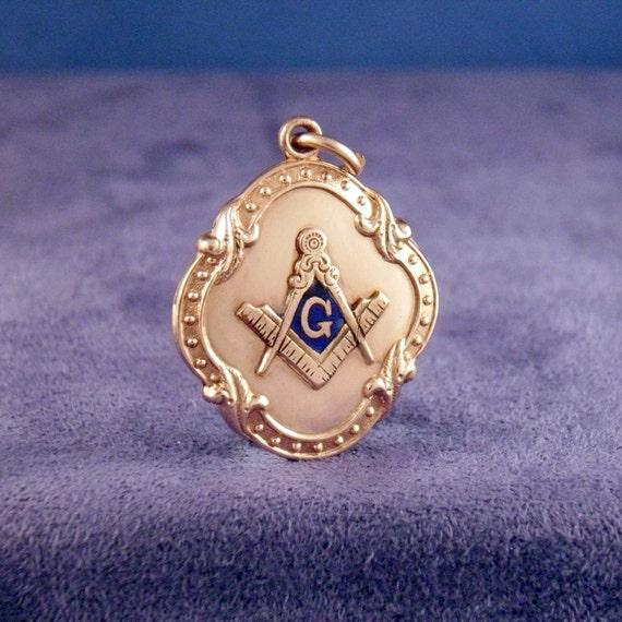 Masonic Antique Victorian Pendant Charm Fob (Steampunk)