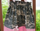 ACU dress pink with pink welcome home or R and R deployment ABU NWU