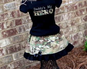 Welcome home Hero skirt and shirt girls  ACU ABU MARPAT any branch camo