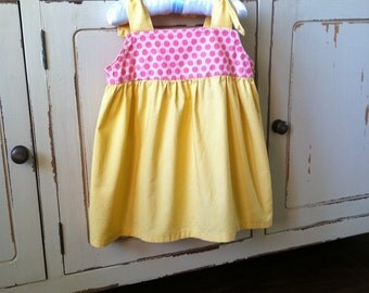 Childrens Sewing Pattern - Shoulder Tie Top - Baby Toddler Sizes 1 to 6