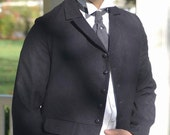 Mans Victorian Steampunk Wedding Frock Coat Edwardian Mourning Jacket Groom Formal Jacket Mourning Coat