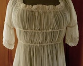 Womans 18th Century Silk Chemise Robe a l'Anglaise for Corsets and Victorian Gown