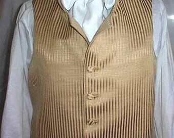 Mans  English Regency Waistcoat Wedding Groom Vest Steampunk Victorian Edwardian Vest
