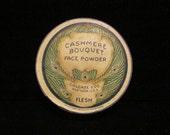 1930's Cashmere Bouquet Colgate Powder Box Peacock Litho Graphics Vintage Powder Box