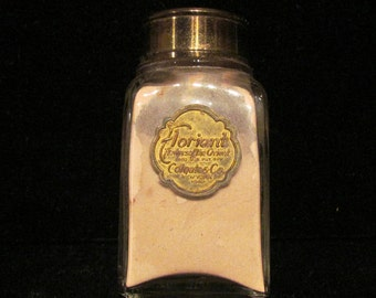 1910 Perfume Bottle Colgate Co Floriant Talcum Powder Vintage Bottle Vintage Perfume Vintage Powder EXTREMELY RARE