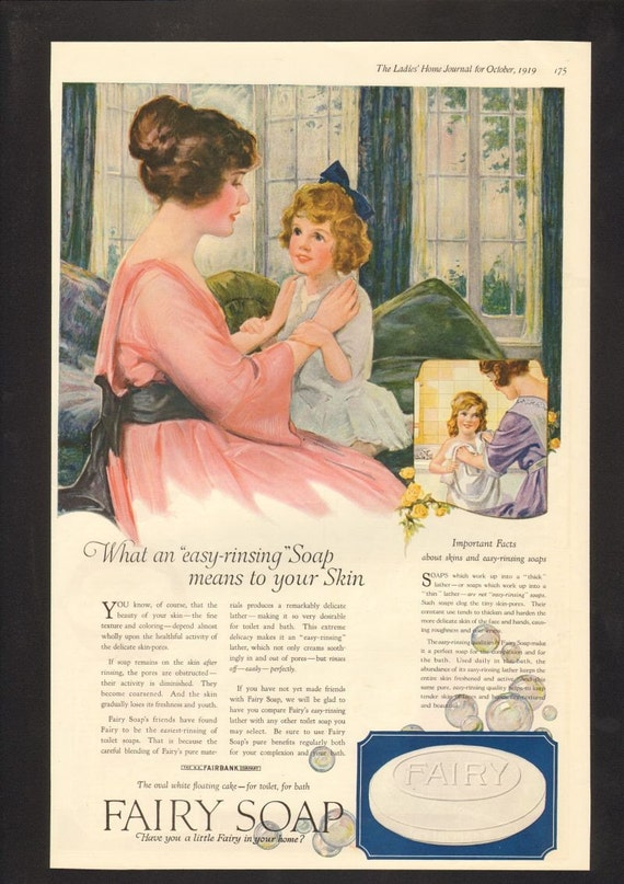 Vintage 1919 Fairy Soap Advertisement The Ladies' Home Journal October Of 1919 Vintage Advertisement Magazine Ad