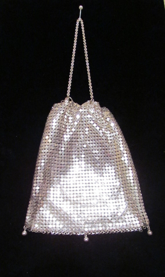 Vintage Purse Silver Purse Mesh Purse Coin Purse Art Deco Purse Change Purse Formal Purse EXCELLENT CONDITION