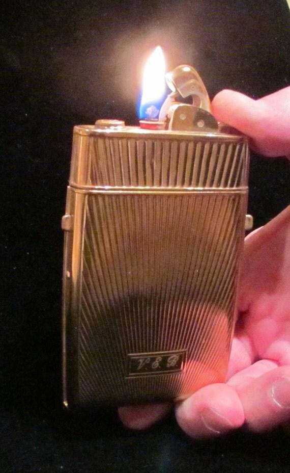 1950's Case Lighter Cigarette Case Evans Case Lighter Vintage Case Lighter Working Lighter Case